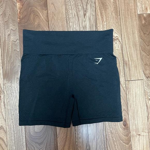Black gym shark shorts